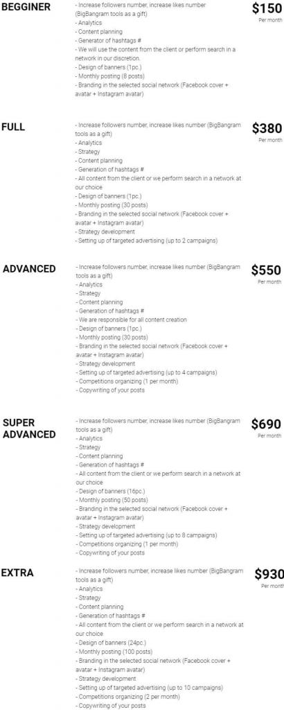 bigbangram smm prices