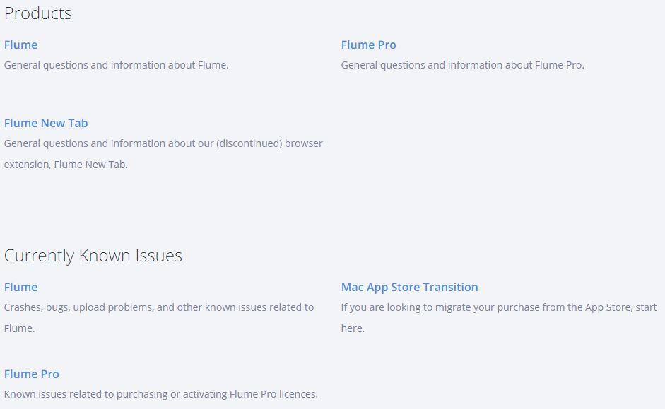 Flume FAQ