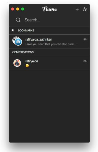 Flume app conversations