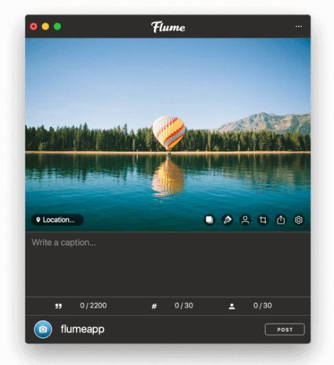 Flume app upload to Instagram