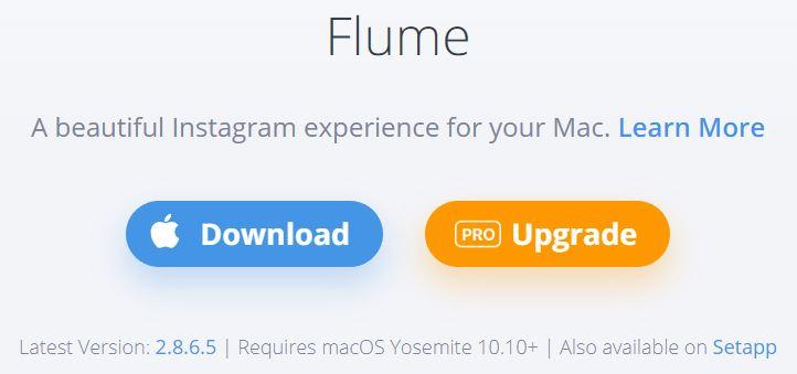 Flume homescreen