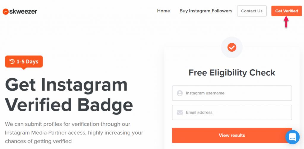 get instagram verified badge skweezer