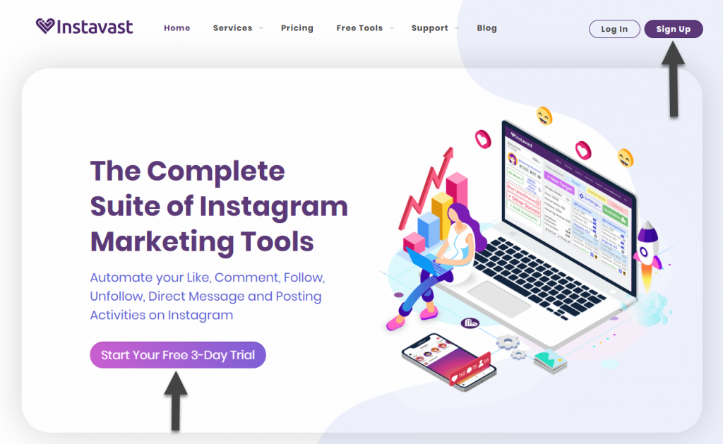 Instavast vs  AiGrow - what's a better Instagram growth tool? - AiGrow