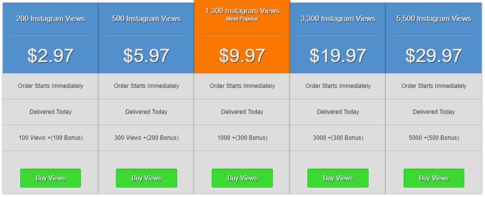 socialrproof buy instagram views