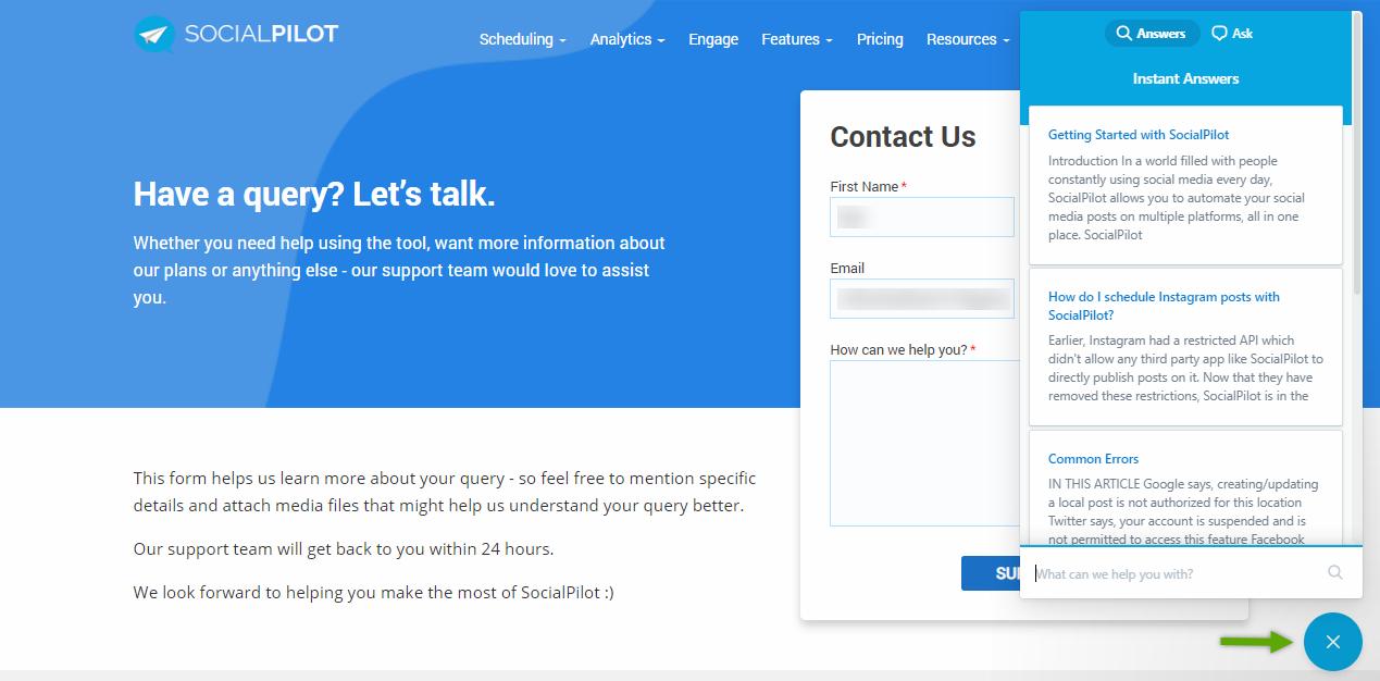 contact us socialpilot