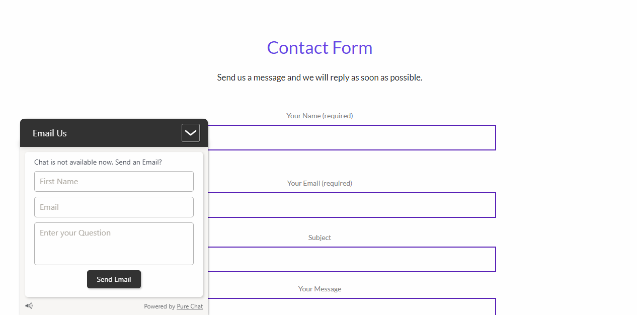 Instagrowth contact form