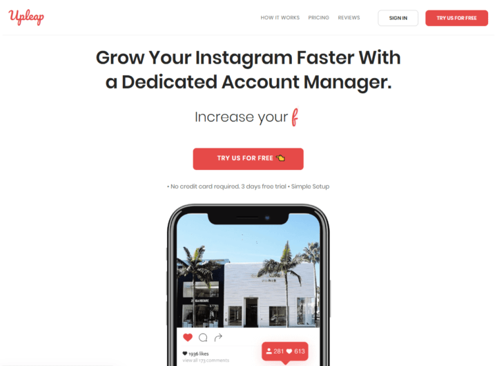 upleap instagram tool