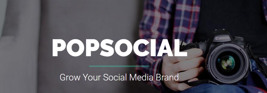 popsocial webpage