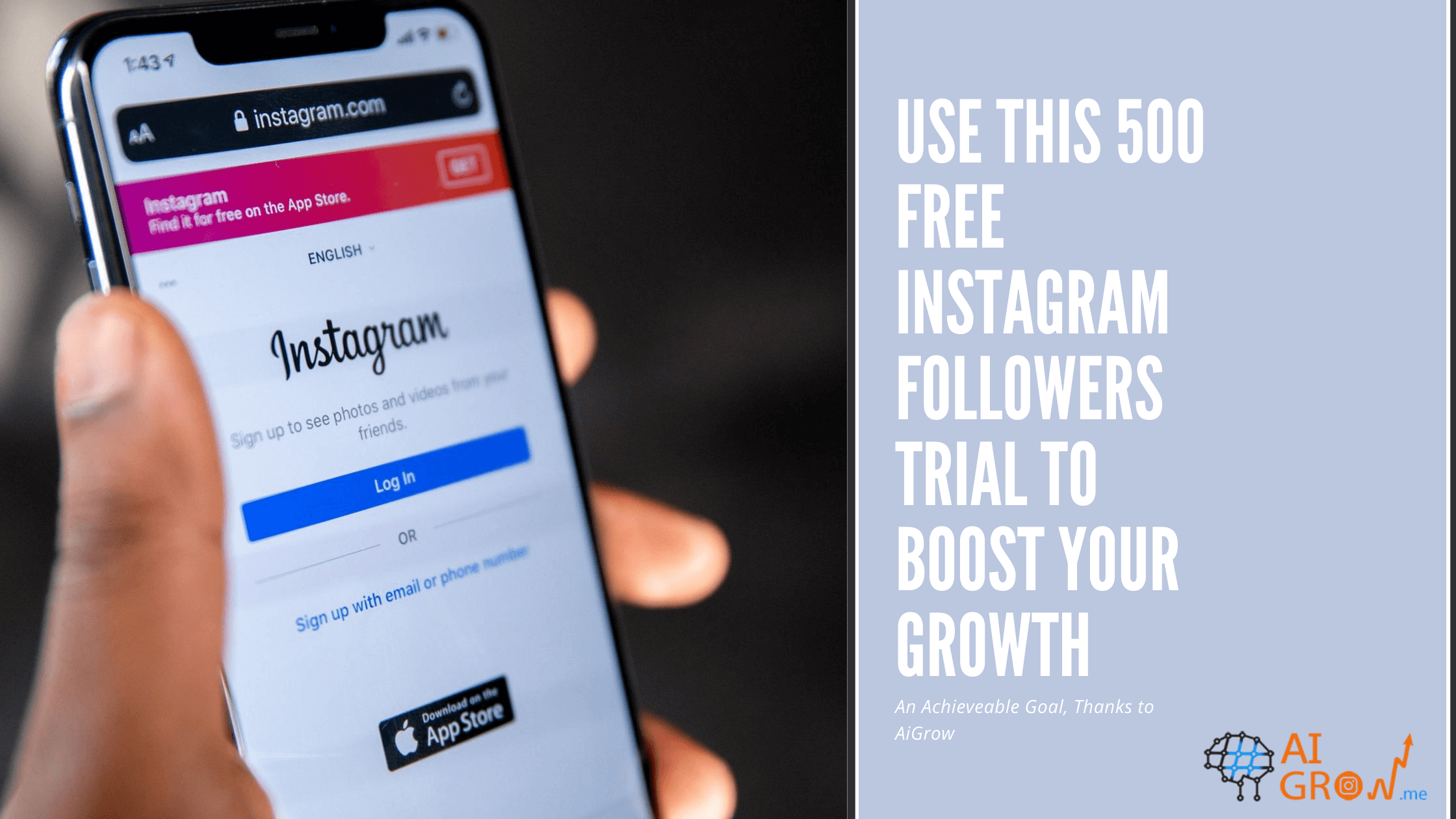 Use this 500 free Instagram followers trial to boost your growth