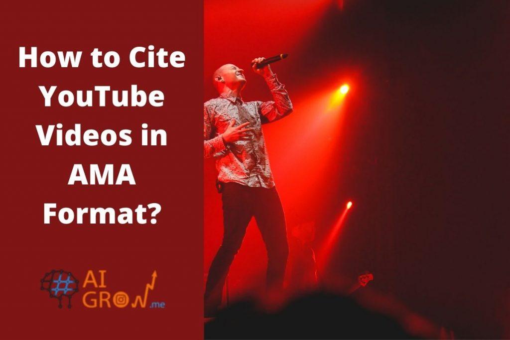 How to cite AMA