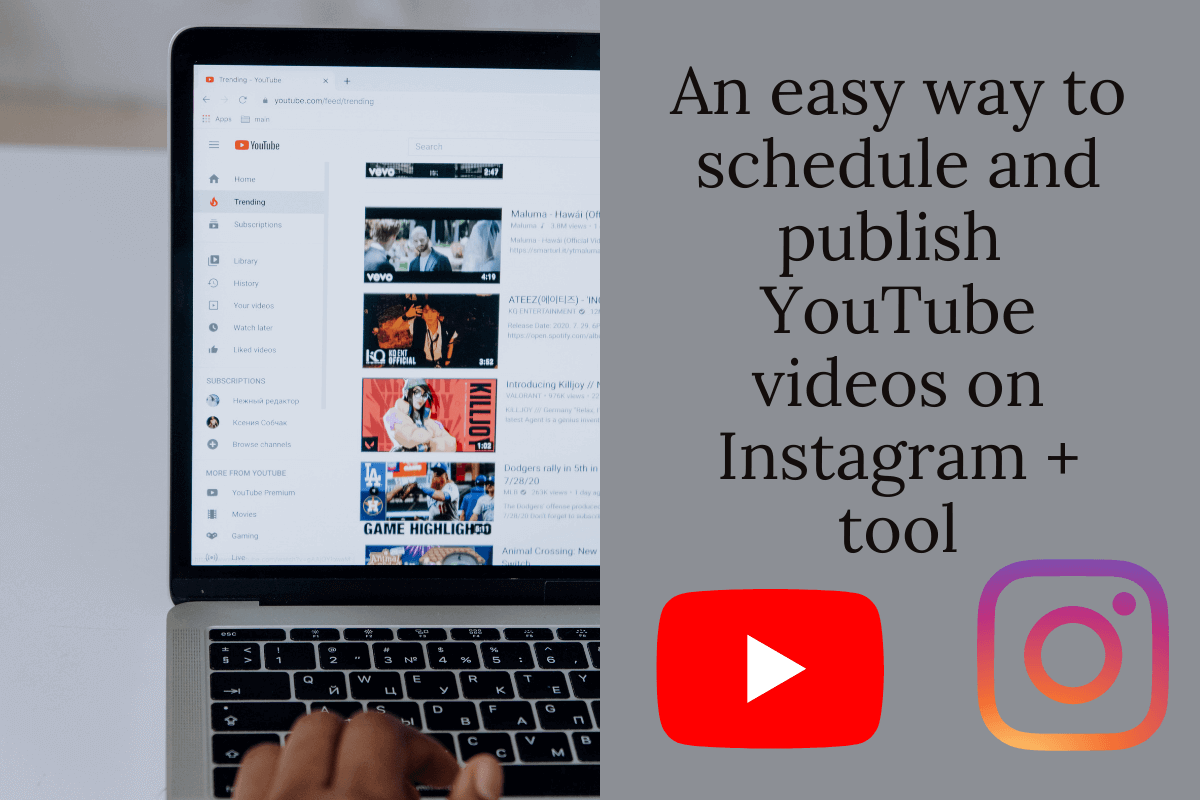 An easy way to schedule and publish YouTube videos on Instagram + tool