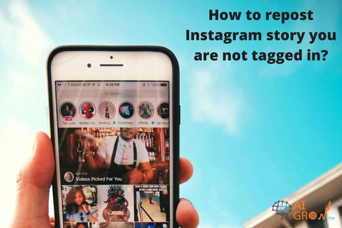 How to repost Instagram story you are not tagged in?